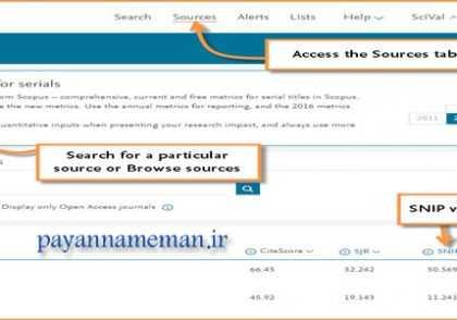 payannamema2n 2 420x294 - شناخت شاخص های SJR و SNIP جهت چاپ مقاله